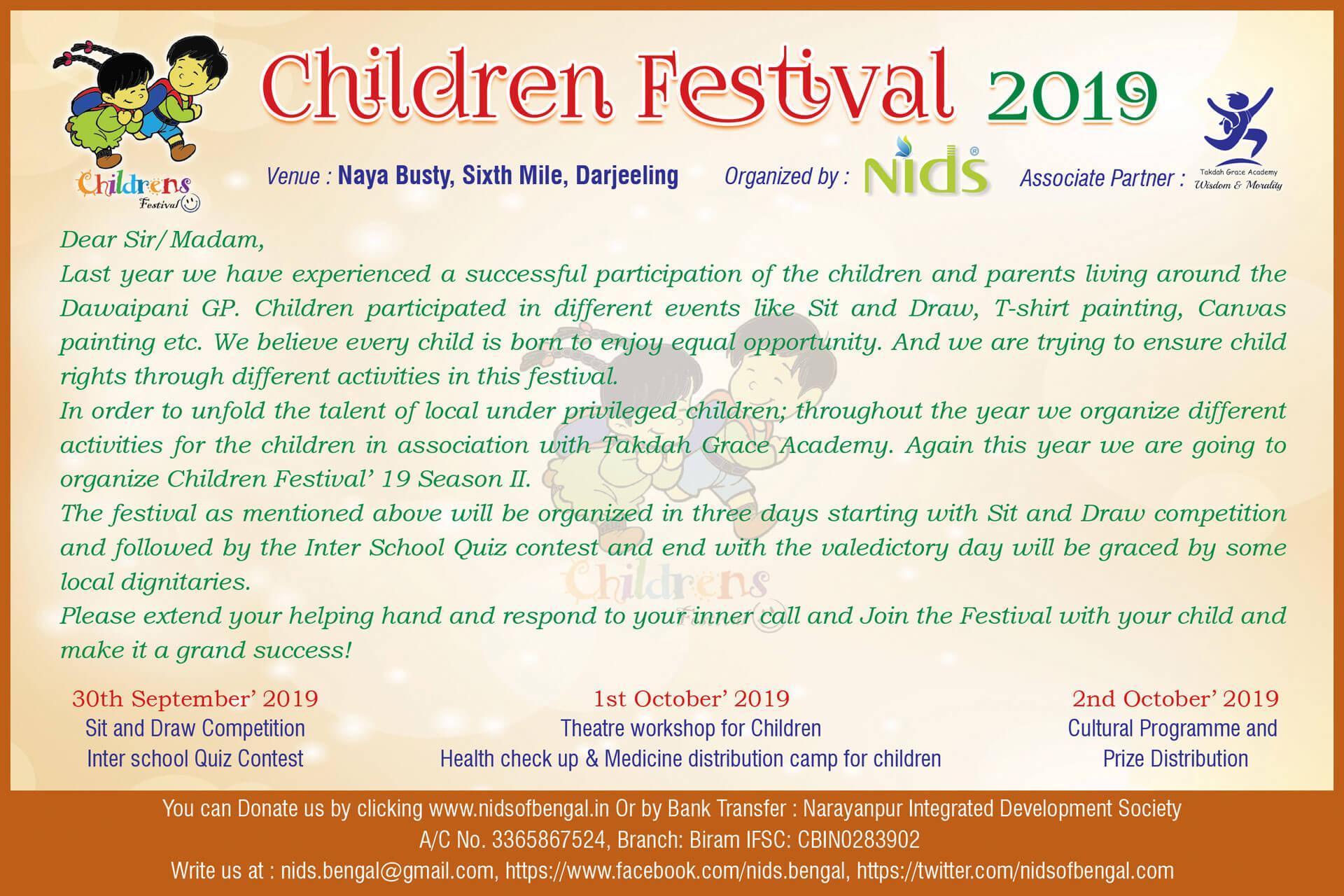 Darjeeling Children Festival 2019